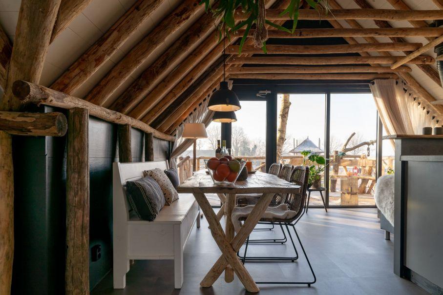 Luxe boomhut overnachting in Drenthe