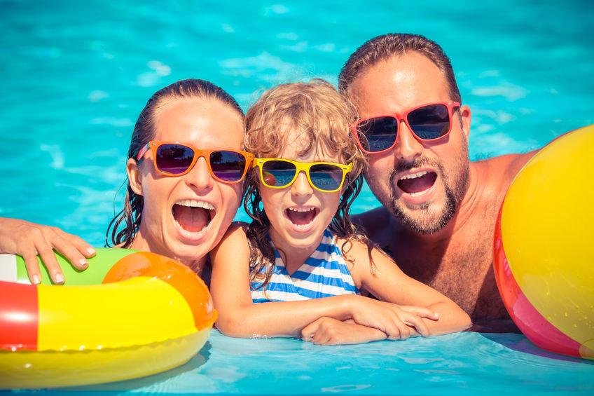 Zwemmen familie